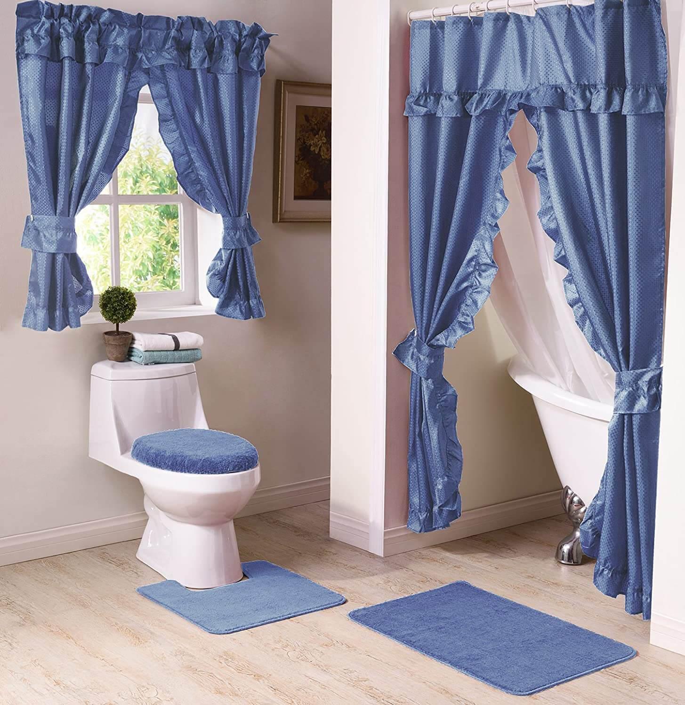 10 Bathroom Window Curtain Ideas 2021, Curtains For Bathrooms